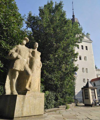Zamek Książąt Pomorskich w Szczecinie. Pomnik Anny Jagiellonki i Bogusława X