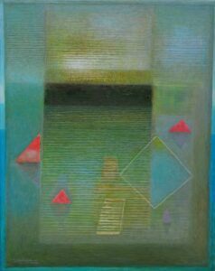 J. Bociąga; Woda; 100×80; olej, płótno, 2019