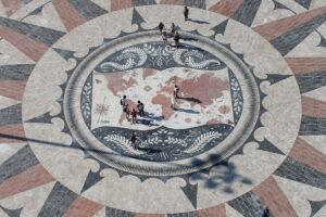 Mapa świata w Belém, Lizbona 2015/ Mapa mundial de Belém, Lisboa 2015