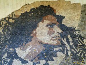 Mozaika na Alfamie z podobizną Amálii Rodrigues, Lizbona 2018/ mosaico em Alfama com a cara de Amália Rodrigues, Lisboa 2018
